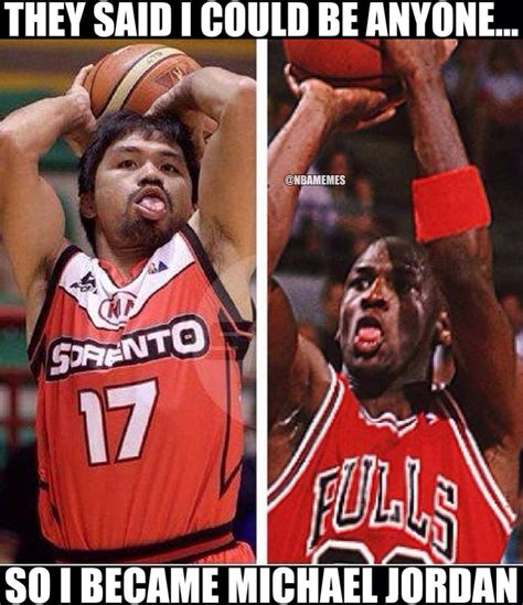 Manny Pacquiao Meme - funny basketball on twitter quot michael jordan vs manny