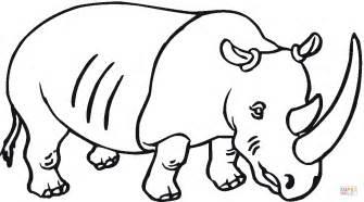 dibujo rinoceronte gran cuerno colorear dibujos colorear imprimir gratis