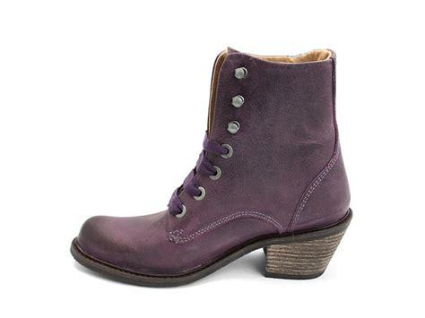 fluevog boots fluevog shoes shop nuni purple lace up winter boot