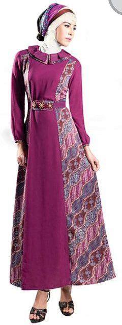 model baju gamis batik kombinasi terbaru trend baju