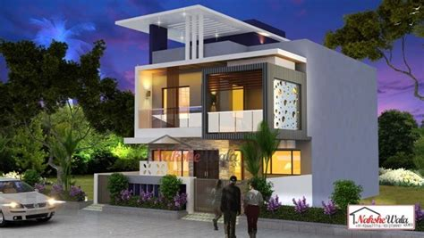 Colonial Home Plans And Floor Plans by Double Storey Elevation Two Storey House Elevation 3d