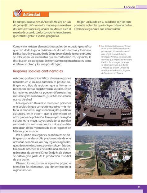 libro de 6 grado geografia libro de geografia de 6 grado de la sep 2016 2017 geograf 237 a sexto grado 2016 2017 online