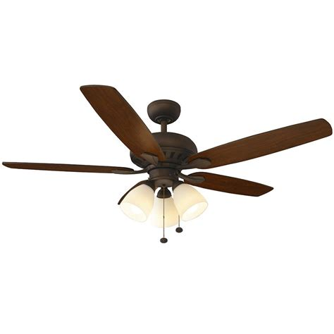 rubbed bronze ceiling fan with light hton bay rockport 52 in indoor rubbed bronze