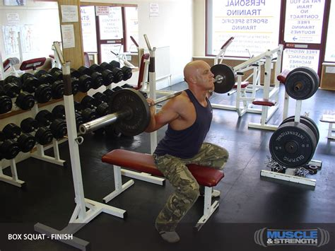 box squat bench box squat shown with bench video exercise guide tips