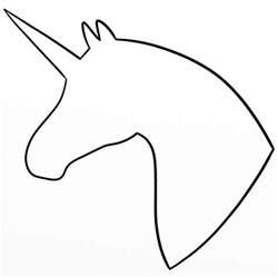 unicorn template unicorn silhouette my drawings