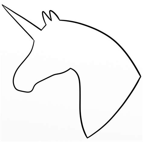 printable unicorn eyes template unicorn head silhouette my drawings pinterest
