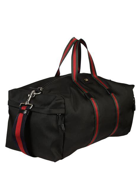 Gucci Duffle Bag gucci gucci technical canvas duffle bag black s