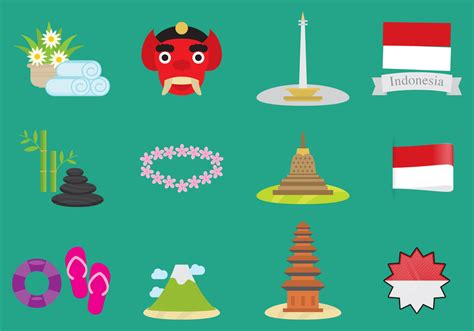 indonesia vector icons   vectors clipart