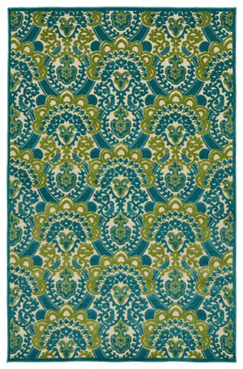blue and green rugs five seasons lace rug in light blue and green