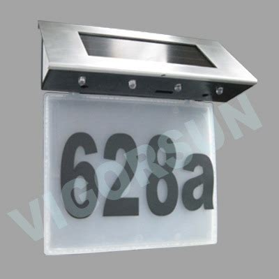 Solar Light House Numbers China Solar House Number Light Vs 80151w China Solar