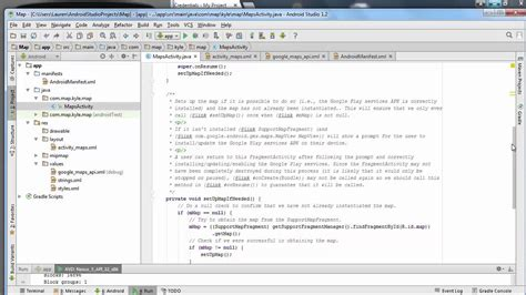 tutorial java map how to create a map app java android studio youtube