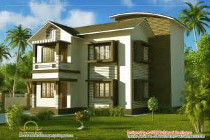 january 2012 kerala home design and floor plans w1703 2 storey 2 bedroom small and tiny modern house