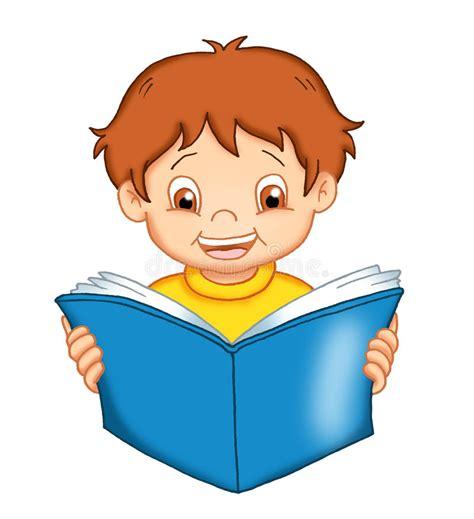 clipart bambino bambino legge illustrazione vettoriale illustrazione