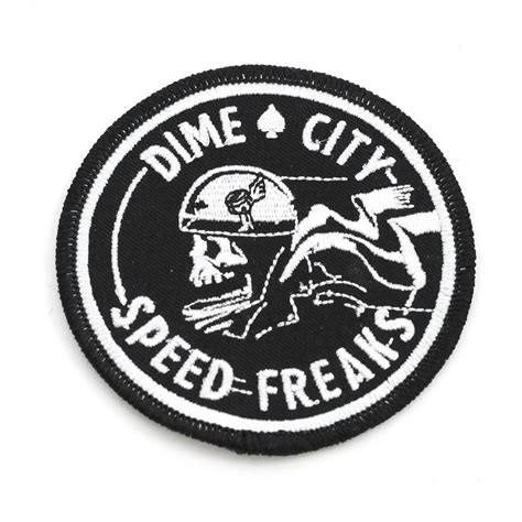 Vintage Live Fast Ride Fast Patch Cafe Racers Ton Up 59 Motorcycle dime city quot speed freaks quot patch vintage motorcycle patch