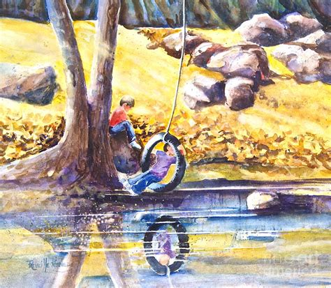 tire swing painting children and the old tire swing painting by reveille kennedy