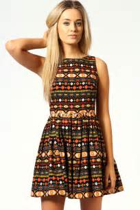 Vaccum Bags For Clothes Faye Aztec Cut Out Back Detail Skater Dress Multi Multi