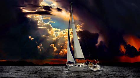 Late Sunset Sail Boat Sunset Sailboat Sunset Wallpaper 2560 215 1440 High Definition