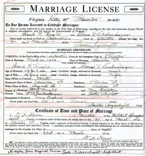 State Of Virginia Marriage Records Virginia Marriage Records Free Sources Helpdeskz Community