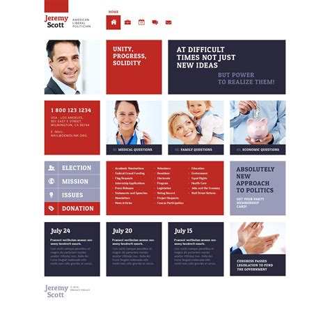Political Candidate Responsive Website Template 46518 Candidate Website Template