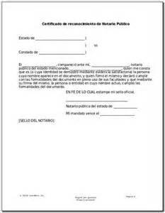 Notary Template by Sle Of Notarized Letter Letter Of Recommendation