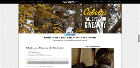 Cabelas Giveaway - sweepstakeslovers daily the real carbontv the dave ramsey show more
