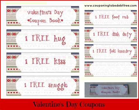 valentines coupons valentines day coupon book new calendar template site