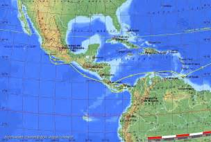 map of south america with latitude and longitude central america panama canal