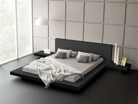 New Style Bedroom Bed Design Modern Platform Bed Wood Leather Design Trends4us