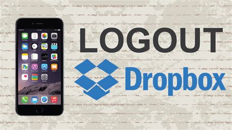 Dropbox Logout | how to logout of dropbox mobile app youtube