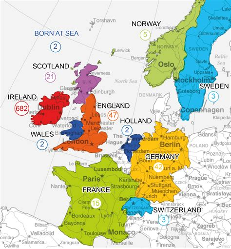Ireland Map Europe by Ireland Map Europe