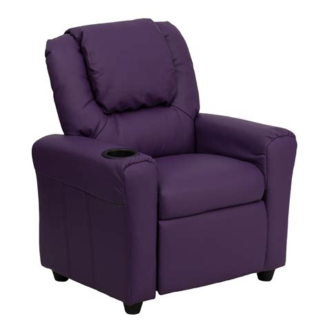 childrens recliners with cup holder flash furniture dg ult kid pur gg contemporary purple