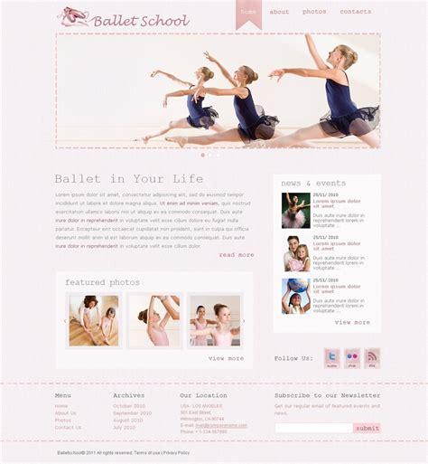 templates for dance website dance studio website template 32379
