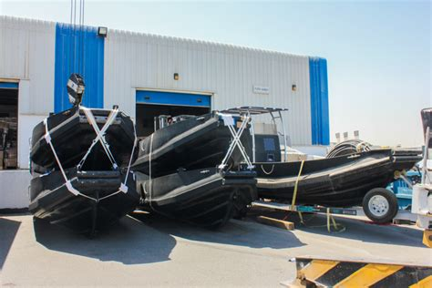 hdpe boat hull rhino 600 hdpe workboats delivered to uae client
