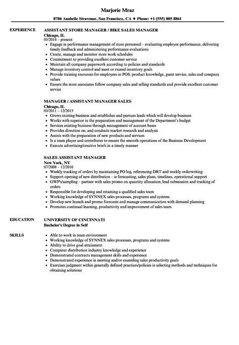 sle assistant manager resume sales assistant manager resume sles velvet