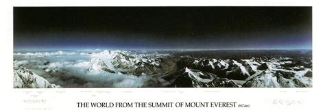 what color is the sky really the world from the summit of everest the sky really is