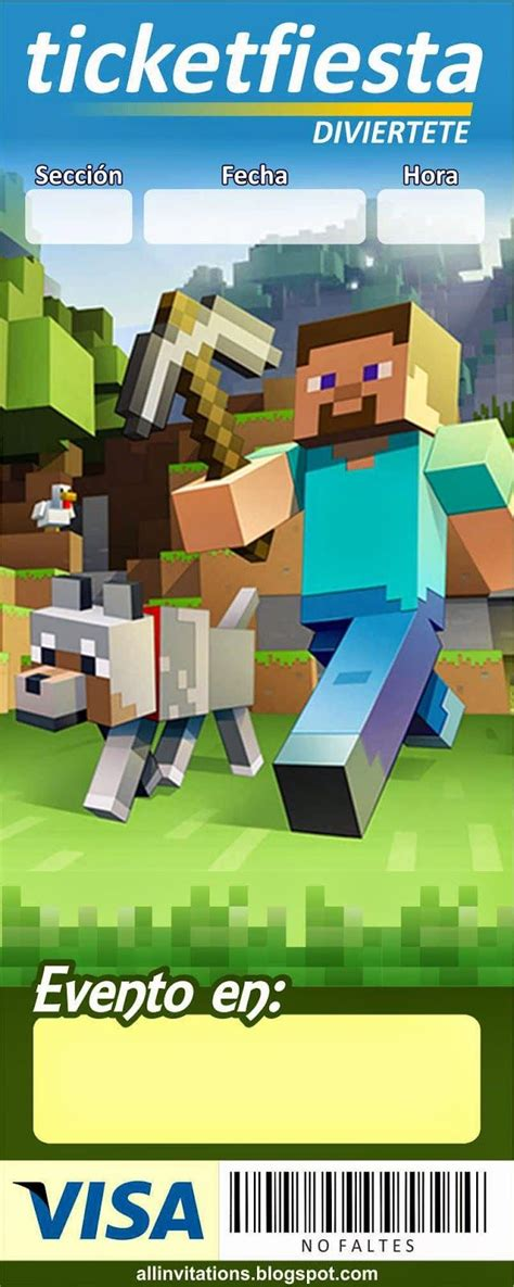 imagenes originales de minecraft invitaci 243 n ticketmaster minecraft sami pinterest