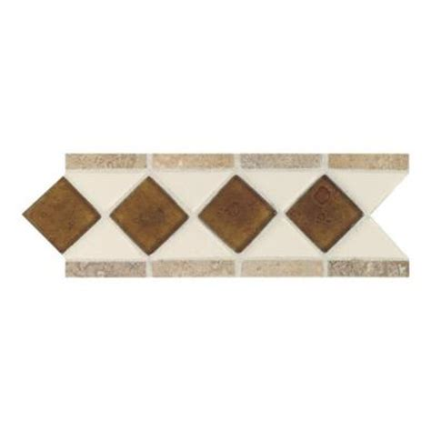 daltile fashion accents almond 4 in x 11 in glass and