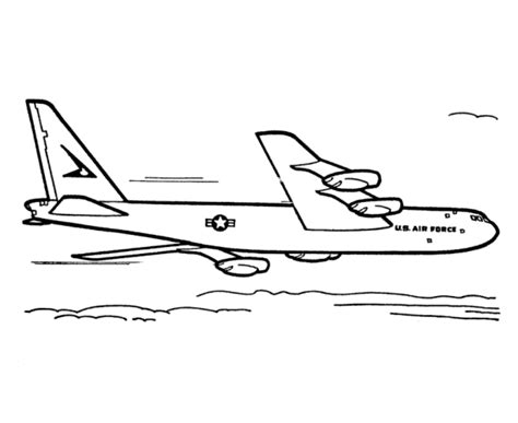 B 52 Coloring Pages by Airline Aircraft Drawings Amd Coloring Sheets B 52