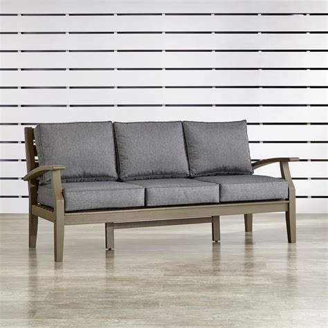 wood outdoor sofa homesullivan verdon gorge gray 1 piece oiled wood outdoor