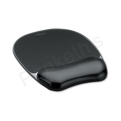 fellowes mouse mat pad with wrist rest gel black