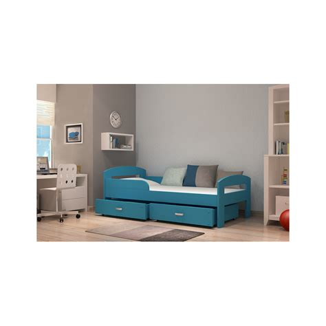 letto con cassetto letto singolo in legno di pino massello greg con cassetto