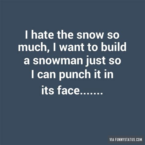 Hate Snow Meme - funny hate snow quote image inspiring quotes and words