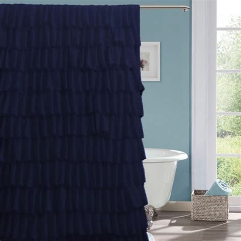 navy shower curtain navy blue fabric shower curtain curtain menzilperde net
