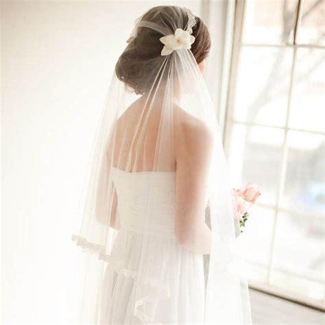 Handmade Wedding Veils - embellished handmade 3d flower cap fingertip length bridal