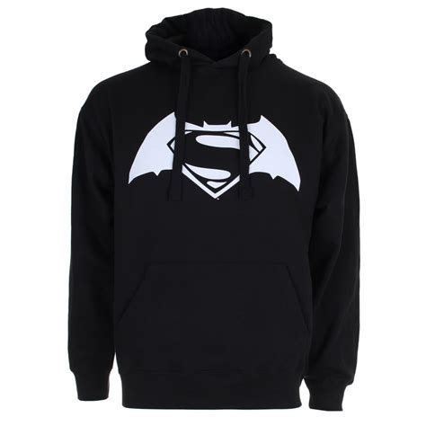 Vest Hoodie Dc Usa Lyq7 dc comics s batman v superman logo hoody black iwoot
