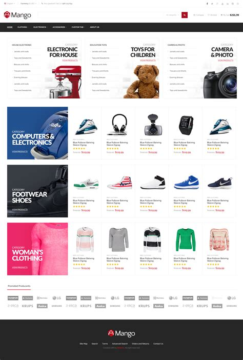 mango responsive ecommerce html5 template by 8theme