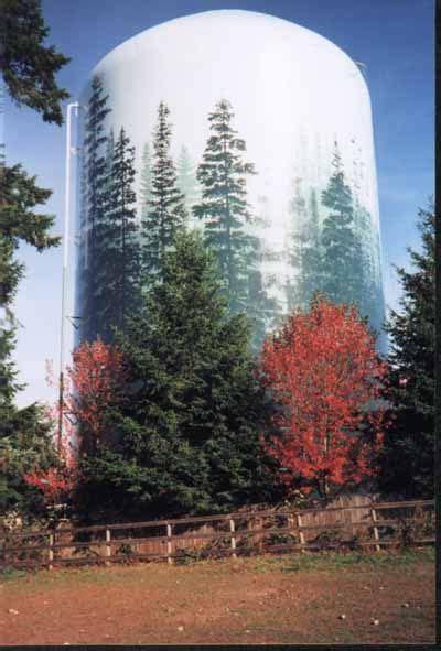 water tower mural blending   landscape water