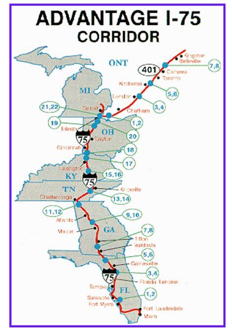 kentucky map i 75 roads advantage i 75 prepares to cut ribbon on