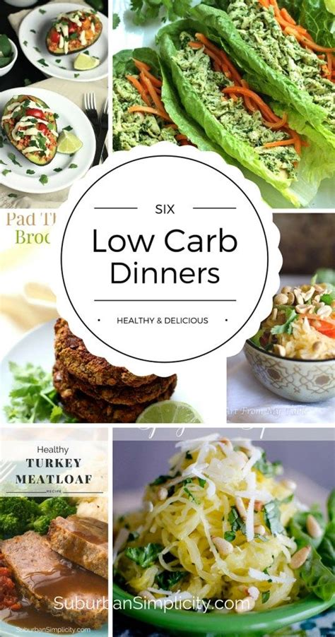 low carb dinners healthy delicious meals low carb