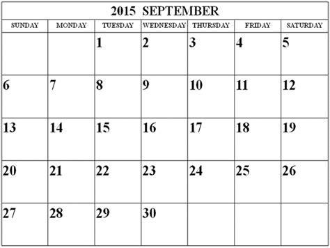 August September 2015 Calendar Free Printable Calendar Free Printable Calendar September